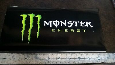 "11"" x 5"" Monster Energy drink sticker - Sticks on inside of glass only"