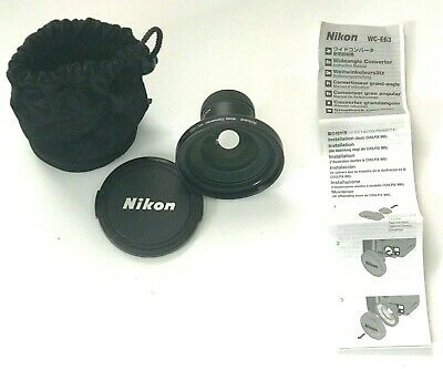 Nikon WC-E63 0.63x Wide Angle Lens for Coolpix with UR-E4 Step Down Ring Adapter