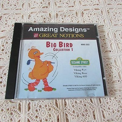 Oop Amazing Designs Big Bird 1 Sesame Street Embroidery Card