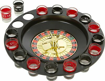 Shot Glass Roulette Game Spinner Casino Fun Drinking Short Glasses Party Adults