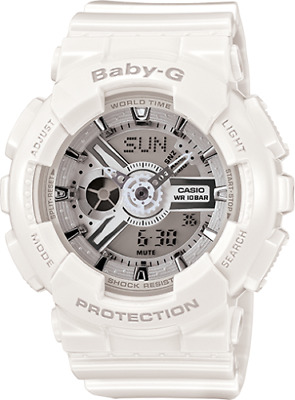 NEW Casio Baby GShock Womens BA-110-7A3 White Resin Watch - No Box - US Seller