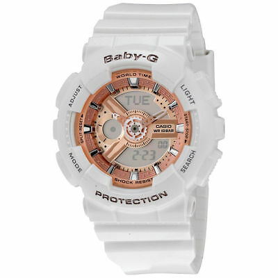 NEW Casio Baby-G Shock Womens BA110-7A1 White Resin Watch-No Box-US Seller