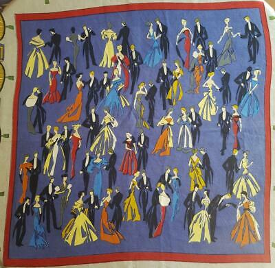 Exquisite Vintage French Hermes-Style Silk Scarf-Similar Jean-Louis Clerc design
