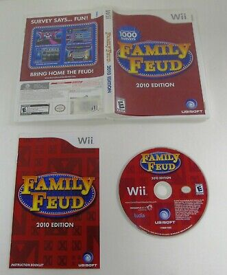 FAMILY FEUD: 2010 EDITION- Nintendo Wii Game EXCELLENT CONDITION