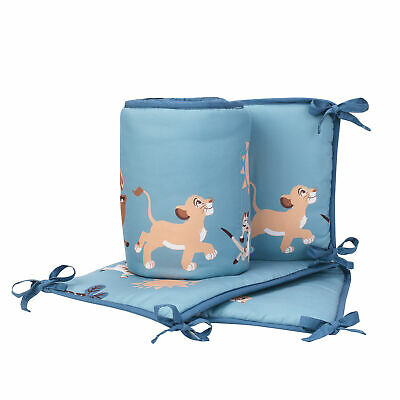 Disney Baby Lion King Adventure Blue 4-Piece Baby Crib Bumper by Lambs & Ivy