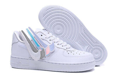 5c01c6ad2 NIKE AIR FORCE 1-100 Removable Swoosh Pack White Leather Womens ...
