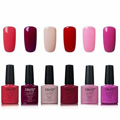Elite99 Esmalte de Uñas Semipermanente Uñas de Gel UV LED Kit de Manicura 6pcs c