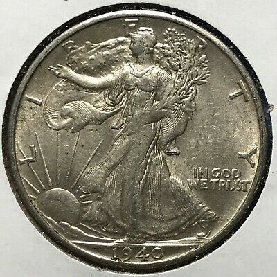 1940-S 50C Walking Liberty Half Dollar (49101)