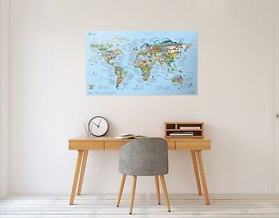 Bucketlist Map with awesome destinations on Planet Earth by Awesome Maps