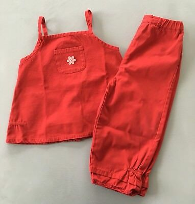 SERGENT MAJOR Ensemble Blouse + Pantalon Rouge 24 Mois 2 Ans TBE