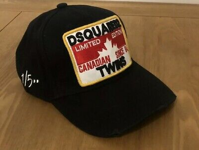 New DSQUARED2 Baseball Cap 2019 Summer Collection/Limited Edition Black