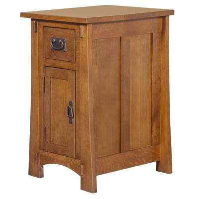 Mission Quarter Sawn White Oak Narrow Nightstand - Crofter Style