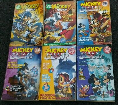 L0T 6 Mickey Parade Géant N° 293/294/297/303/310/314 + de 1800 pages de bd