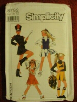 4e96d0fbc781 8782 Simplicity Pattern Junior/Teens Cheerleader & Majorette Outfits Size  11 12