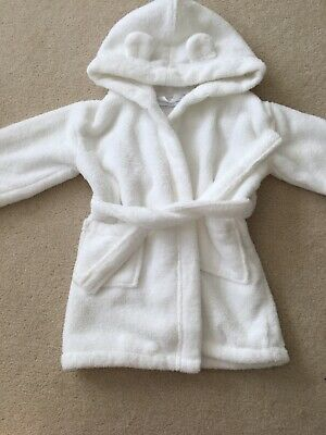 Unisex - The Little White Company Dressing Gown Size 18 - 24 Months White