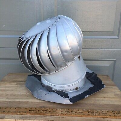 Architectural Salvage roof vent - spinning whirlybird galvanized roof vent