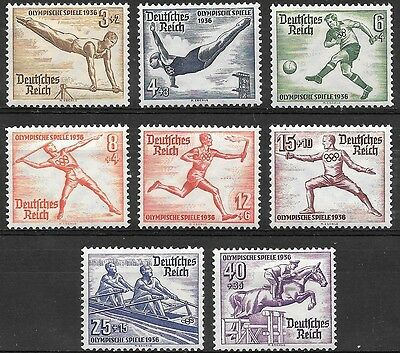Germany Third Reich Mi# 609-616 Summer Olympic Games, Garmish 1936 Mint No Gum