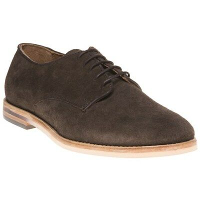 f1f892e7f71f2 H BY HUDSON Mens Suede Hadstone Oxfords Brown Size 41 US Size 8 ...