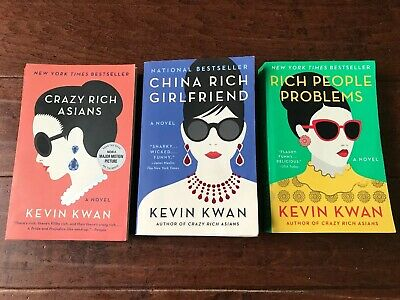 Crazy Rich Asians Trilogy by Kevin Kwan 3 Book Series Set - Physical Books EUC