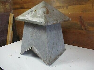 Vintage Antique RARE Barn Cupola Galvanized Tin Roof Topper Rustic Farm Decor