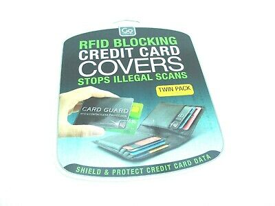 RFID Blocking Credit Card Covers Twin Pack Brand New