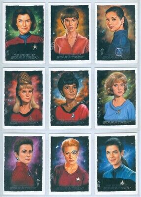 """ARTIFEX 10 CARD INSERT SET"" WOMEN OF STAR TREK Uhura T'Pol Seven of Nine"