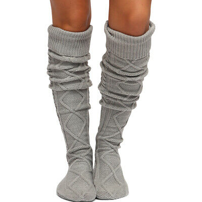 Thigh High Cable Knit Boot Socks