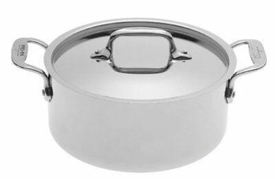 New All-Clad 4303 Tri-ply Stainless Steel 3-qt Casserole with lid