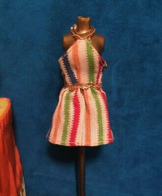 Petite Fashions Striped Mini Dress HTF Vintage Dress Only No Doll Included
