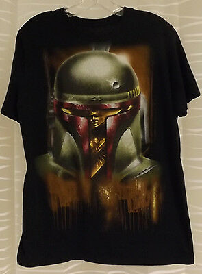 Star Wars Han Solo in Carbonite green graphic Boba Fett Helmet Size M