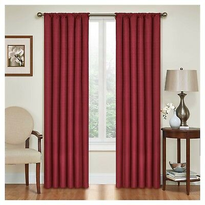 """KENDALL THERMABACK BLACKOUT CURTAIN By ECLIPSE; 42""""Wx84""""L RED BUY 3+ GET 50% OFF"""