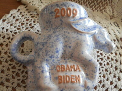 Frankoma 2009 Obama Biden Blue Speckled Political Mug Only 500 Made