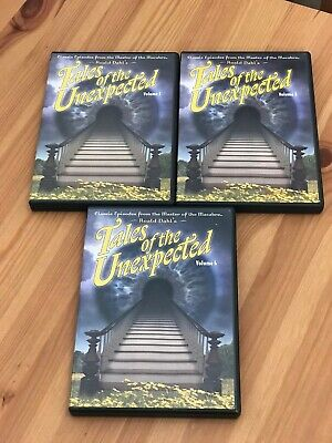 Ronald Dahl's Tales of the Unexpected 19 Episodes on 3 DVDs Set 1 Vols. 1, 3 & 4