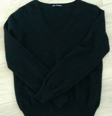 superior materials modern and elegant in fashion professional MARKS AND SPENCER Autograph Ladies V Neck Cashmere Jumper in Black (12-14))