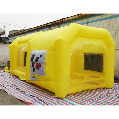 Portable Giant Oxford Jaune Inflatable Tent Spray Pienture 220v 1 Soufflerie