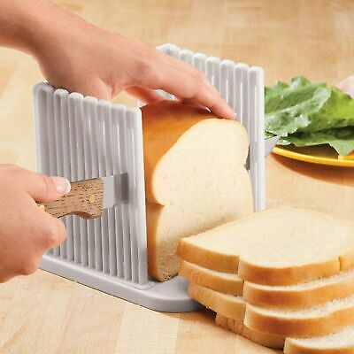 Bread Slice Toast Sanwich Slicer Guide Cutter Slicing Cutting Sheet Kitchen Tool