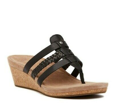 4a14a830a03 UGG MADDIE WEDGE Sandals Blue Leather 12 women Retail  135 -  36.47 ...