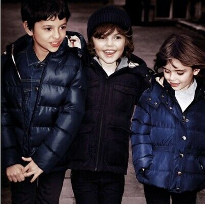 NWT!! Burberry Kids Classic Black Quilted Puffer Hooded Jacket Fully lined