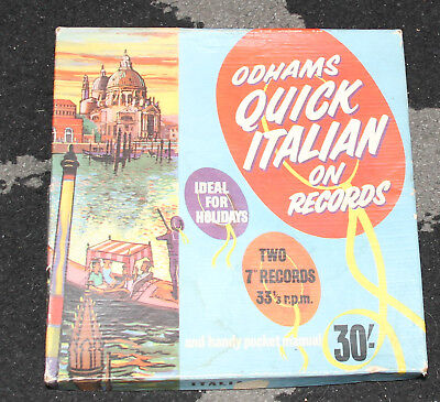 LEARN ITALIAN vintage 7 inch records