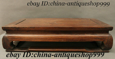 Old Chinese HuangHuali Wood Pendant Bed used Low Tea table Desk Teapoy Furniture
