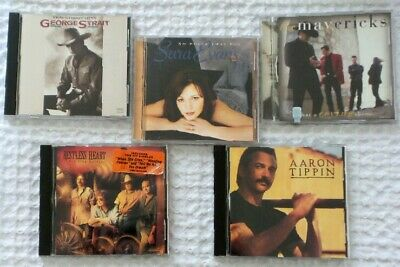 Lot of 5 COUNTRY MUSIC CD Restless Heart G Strait Sara Evans Mavericks A Tippin