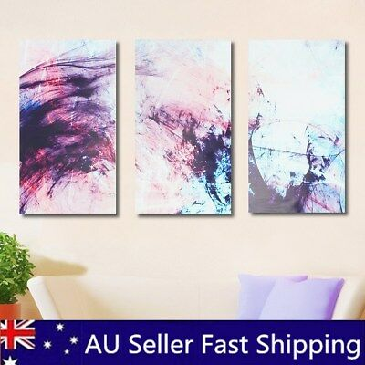 3Pcs Abstract Stretched Canvas Print Painting Wall Art Home Office Decor 16/20''