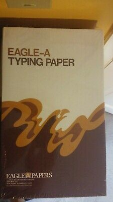 RARE New Vintage Eagle A 25% Cotton ONIONSKIN Typewriter Paper  Red Legal Ruled