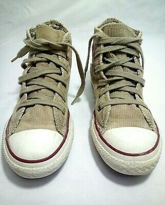 68b2323b591bf3 Converse All Star Canvas High Top Chuck Taylor Sneakers Khaki Shoes Size 12