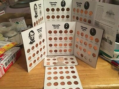 Complete BU set-  Lincoln   Memorial Cents 1959 - 2019 in FullColor Coin Folders