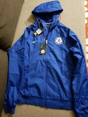 b81a970ff9ec Nike Men s 2018 19 Chelsea FC Windrunner Zip Up Hoodie Rush Blue 919580 495  M