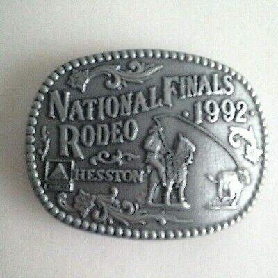 1992 HESSTON NFR National Finals Rodeo Adult Western Belt Buckle Calf Roping 3.5
