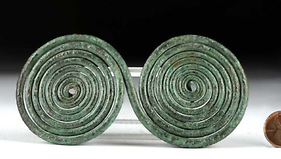 Hallstatt Bronze Spiral Cloak Pin Ancient Jewelry Art 8th to 7th century BCE