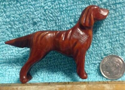 Vintage Folk Art Hand Carved Wooden Setter Private Collectors Collection