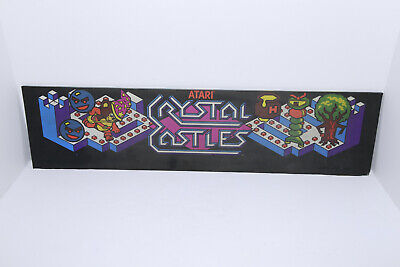 ATARI Crystal Castles Arcade Machine Game Marquee - PLEASE SEE PHOTOS